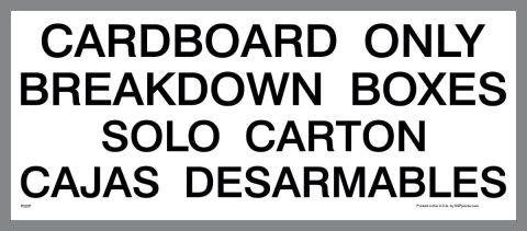 Bilingual Breakdown Boxes Decal