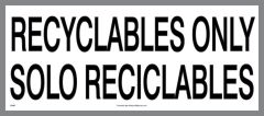 bilingual recyclables only sticker