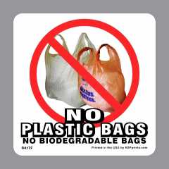 No Bags Sticker