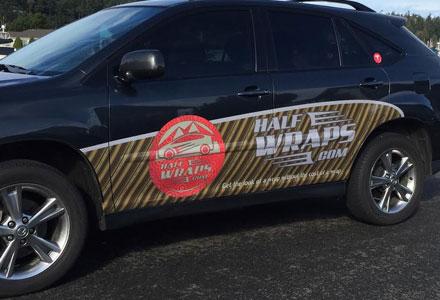 Half Wraps vehicle ads