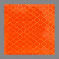 ANSI Reflective Square - Orange conspicuity stickers