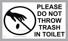 No Trash In Toilet Sticker