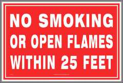 No Open Flames Sign