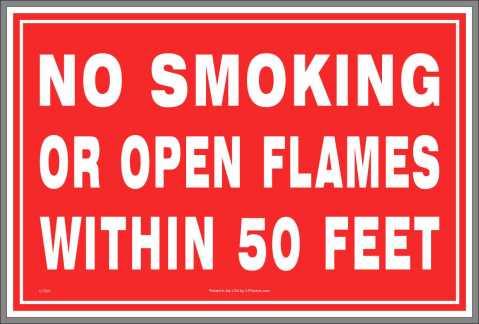No Open Flames Sticker