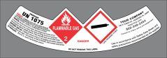 UN1075 Propane GHS style neck label