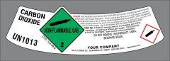 UN1013 Carbon Dioxide modified neck label