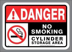 CYLINDER STORAGE AREA - NO SMOKING