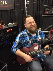 Fluff at NAMM in 2017