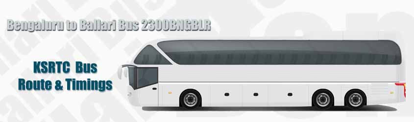 Bengaluru to Ballari Bus 2300BNGBLR