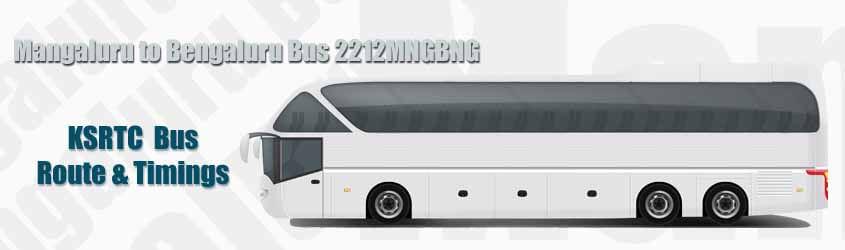 Mangaluru to Bengaluru Bus 2212MNGBNG