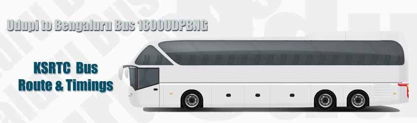 Udupi to Bengaluru Bus 1800UDPBNG