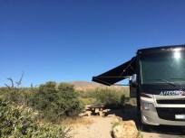 our (super hot) campsite