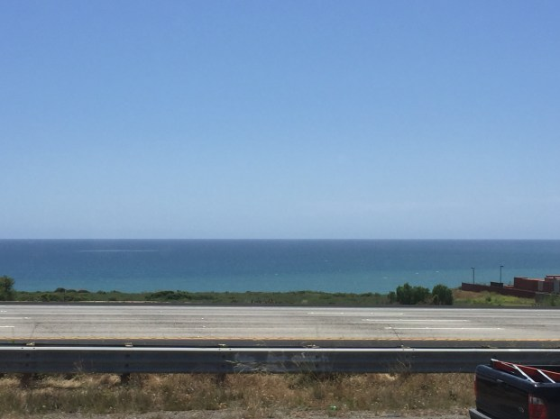 Pacific view from I-5 northbound