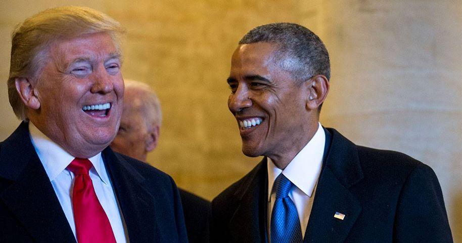 Они дружески общались во время инаугурации Трампа 20 января 2017 года. Но на деле нынешний президент США и президент предыдущий - антиподы... Foto by U.S. Air Force Staff Sgt. Marianique Santos