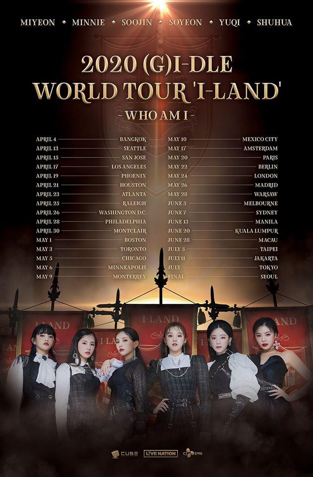 gidle world tour