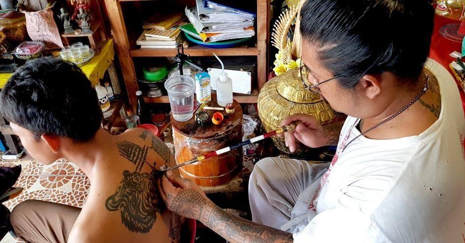 Thai buddhist tattoos traditional Sak Yant: