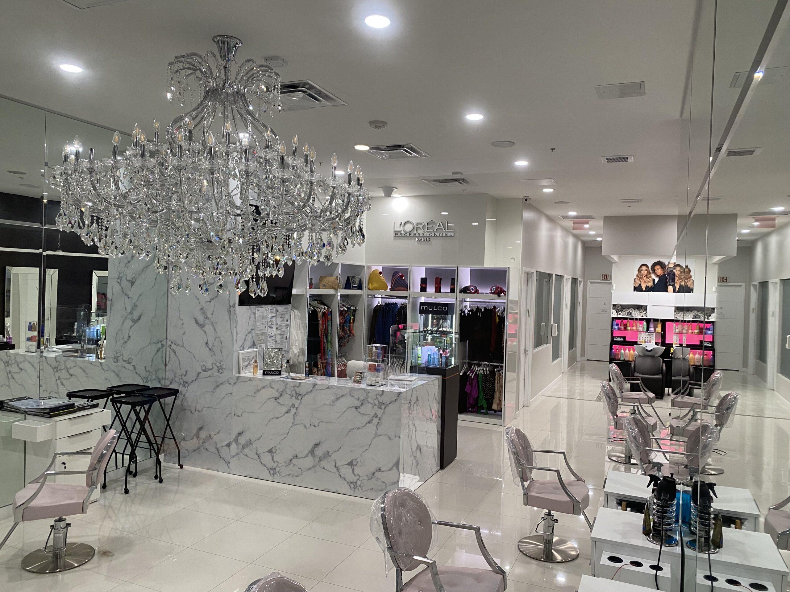 interior design by kstudio of beauty center