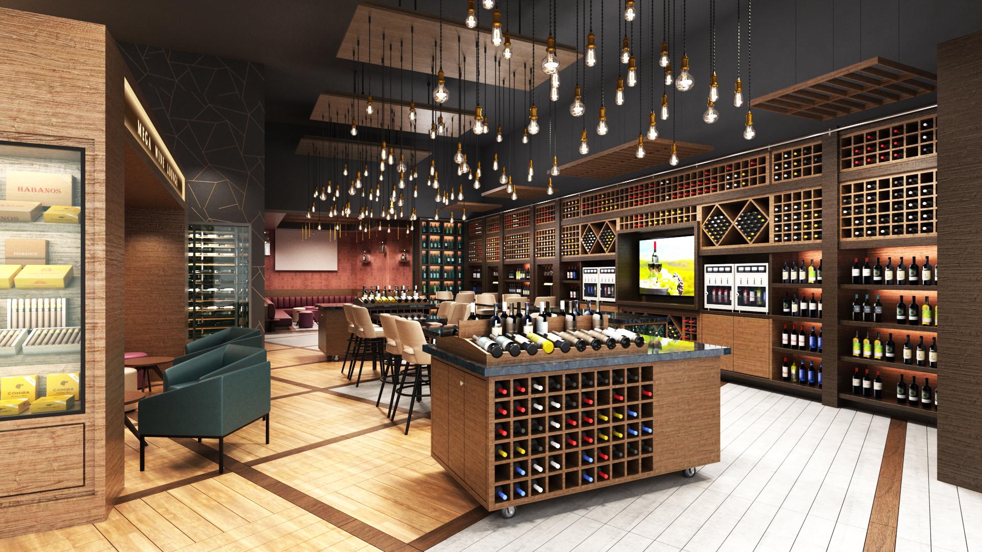 wine store interior design