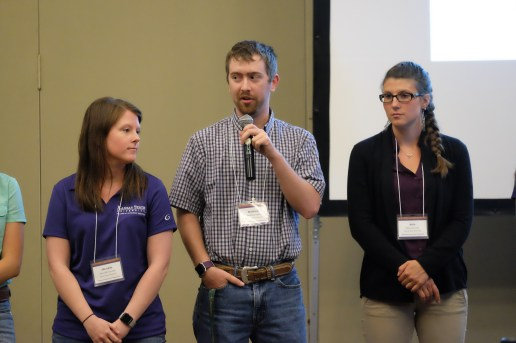Meredith Schmidt, Matthew Kelso and Izabella Carmona were three of nine students recognized during the 80th Annual Conference for Veterinarians on June 3.