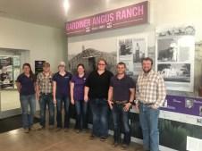Students visit Gardiner Angus Ranch in Ashland, Kansas.
