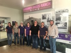 Students visit Gardiner Angus Ranch in Ashland, Kansas.