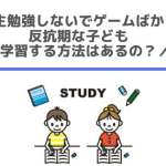 中学生勉強しないでゲームばかりの反抗期な子どもが学習する方法はあるの?
