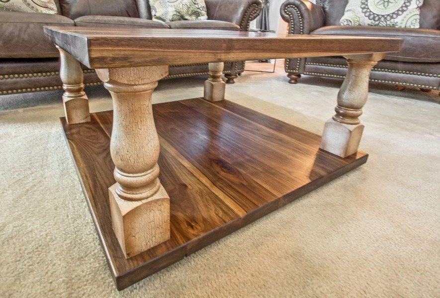 Black Walnut Wood   Strip Tables   Round   End   Accent