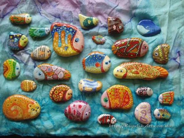 Морские камушки - Дизайн и прикладное творчество. - КсюшАрт