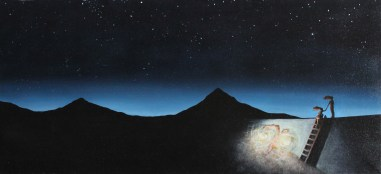 """The Light Tree Series: Into the Void III 2009 Oil on Canvas 18"""" x 39"""""""