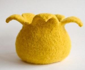 © Cindy Pilon Small Tulip Felted Basket by Cindy Pilon (knit)