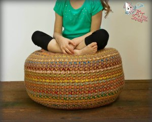 stash busting monster pouf free crochet pattern