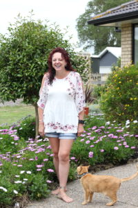 emigrating, author and her cat
