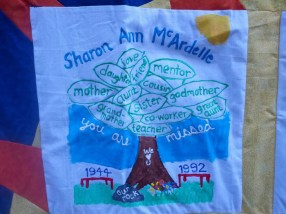 Our quilt patch for the rememberance quilt