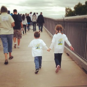 Jacob and Alorah at the 2013 Ulster County Out of the Darkness Walk