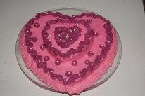 Valentines Day Double the Love Cake (2 layers)