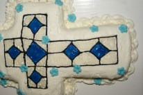 Stained Glass Baptism Cross