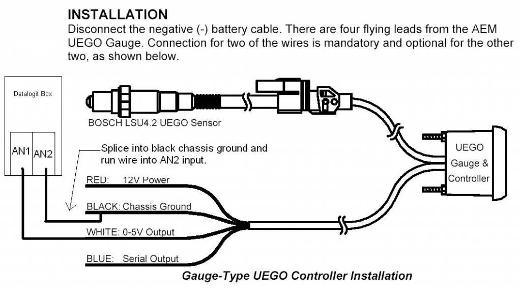 aem uego installation instructions 30 4100 kteller aem wideband o2 sensor wiring diagram Aem Wideband Wire Diagram #3