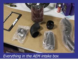 Everything in the AEM intake box