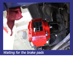 Waiting for the new brake pads