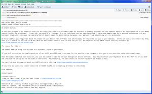 Nominet's initial complaint, case 1594954