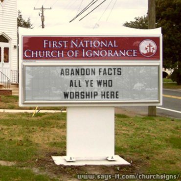 ignorance churchsign