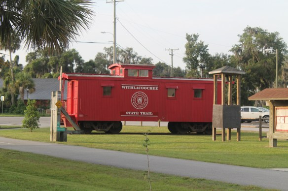 Red Caboose at the Inverness Trail Head on the Withlacoochee State Trail