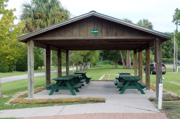 Picnic Pavilion at the Inverness Trail Head on the Withlacochee State Trail