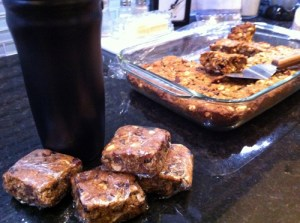 Adventures in the Kitchen with Michelle, Chocolate Peanut Butter Energy Bars