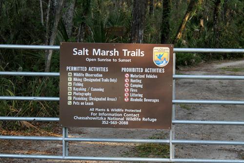 the Chassahowitzka Salt Marsh Trails
