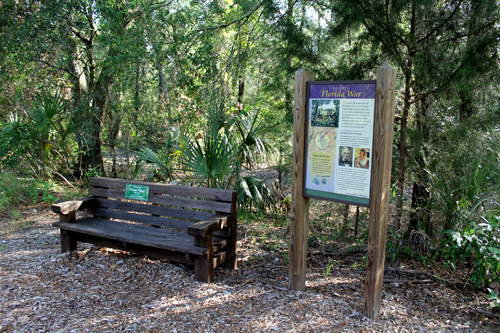 Rest Area in Front of Fort Cooper State Park