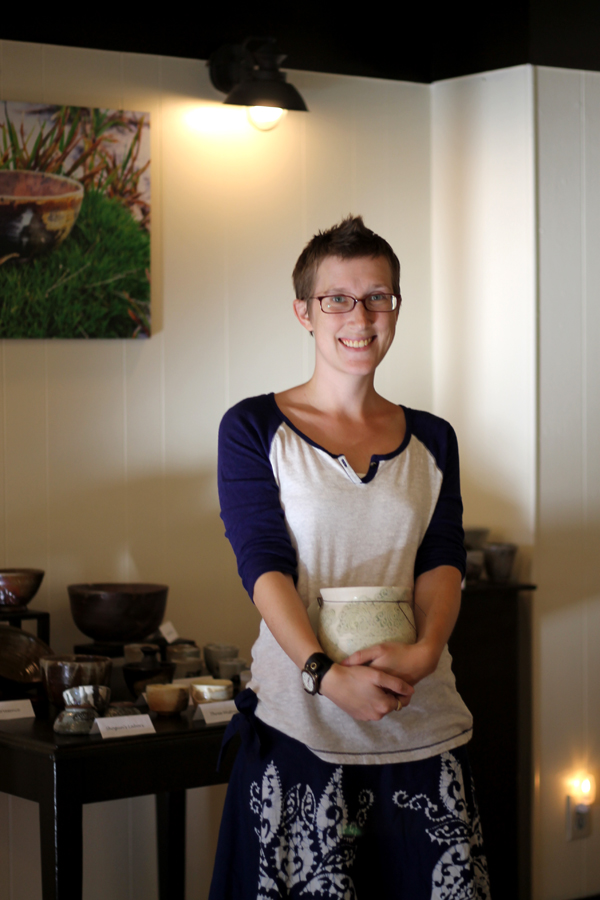 Alexis Ellis. Potter and Owner at DownStairs Art Gallery and Studio