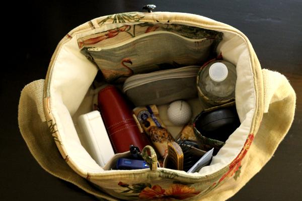 Handy Tote interior, purse, bag