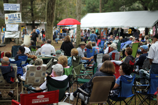 The crowd at The 18th Blues and BBQ Festival in Old Homosassa
