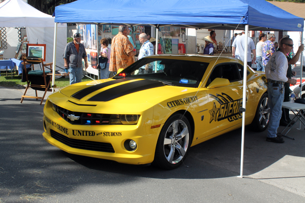 Sheriff's Department car at the 2013 Homosassa Seafood, Art, and Crafts Festival
